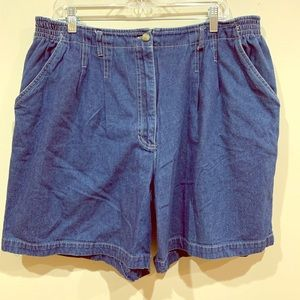 Vintage Original TY Wear Pleated Mom Shorts 20W